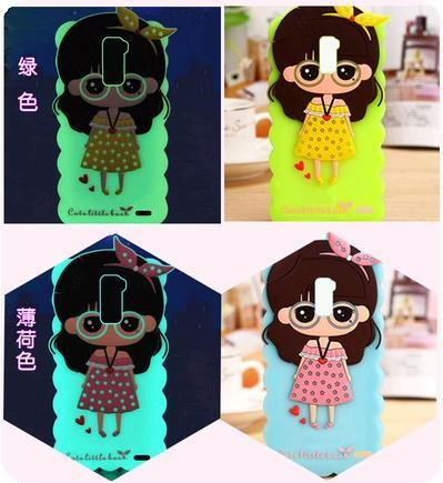 Oppo R7 Plus In Dark Cute Cartoon Girl Soft Casing Case Cover