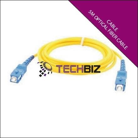 Optical Fiber Cable Single Mode 5M SC/PC-SC/PC SM SX 9/125 3.0mm