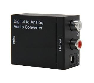 Optical Toslink / Digital to Analog Audio Converter