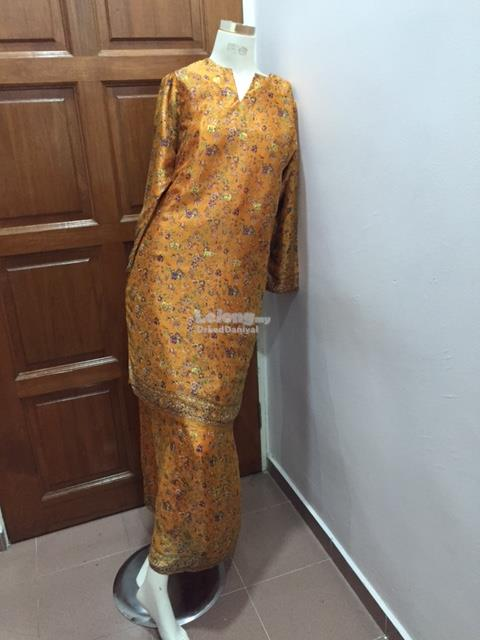 Orange Kurung Size S