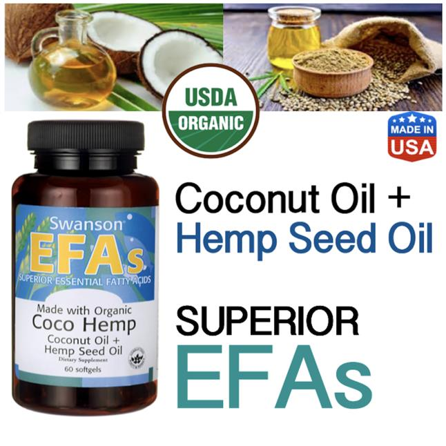 Organic Coco Hemp, Coconut Oil + Hemp Seed Oil, (Fatty Acids. Omega 3)