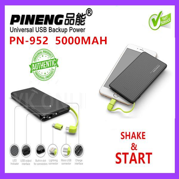 [ORI] 100% Original Pineng PN952 PowerBank PN-952 5000mah Power Bank