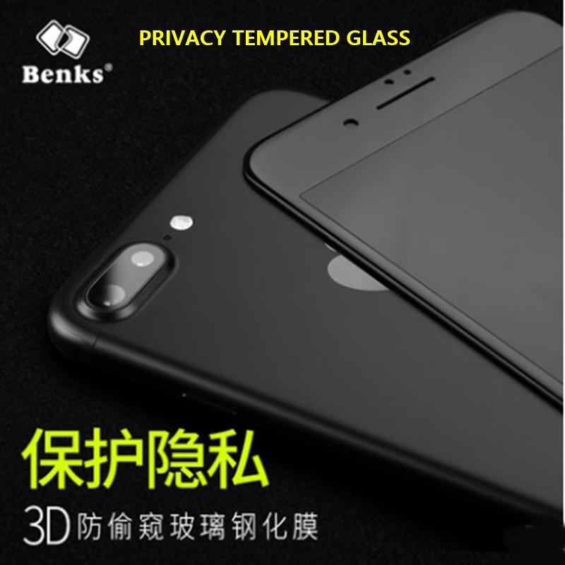 [Ori] BENKS FULL COVER PRIVACY TEMPERED GLASS iPhone 7 Plus