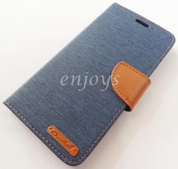ORI Mercury Canvas Diary Case Cover Apple iPhone 6 6S Plus ~NAVY