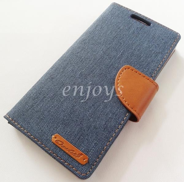 ORI Mercury Canvas Diary Case Cover Sony Xperia Z5 /E6683 E6653 ~NAVY