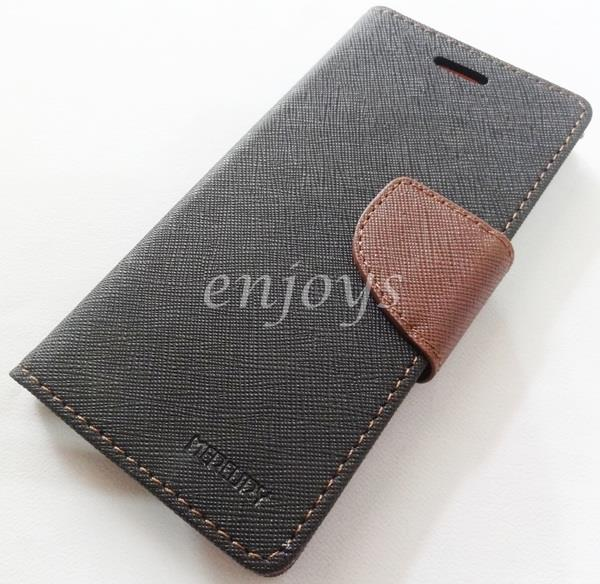 ORI MERCURY Fancy Diary Book Case Cover Apple iPhone 6 6S @4.7 ~BLACK