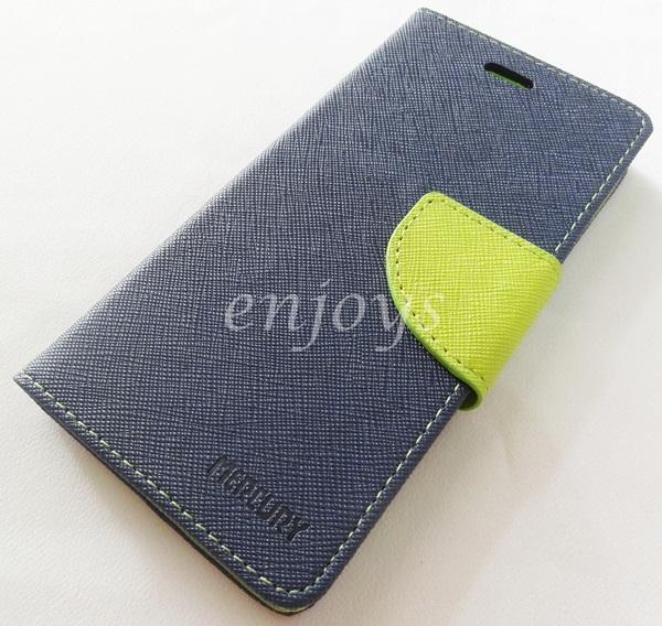 ORI MERCURY Fancy Diary Book Case Cover Apple iPhone 6 6S @4.7 ~NAVY