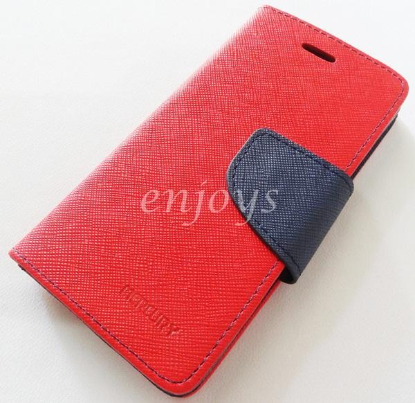 ORI MERCURY Fancy Diary Book Case Cover Pouch Apple iPhone 5 5S ~RED