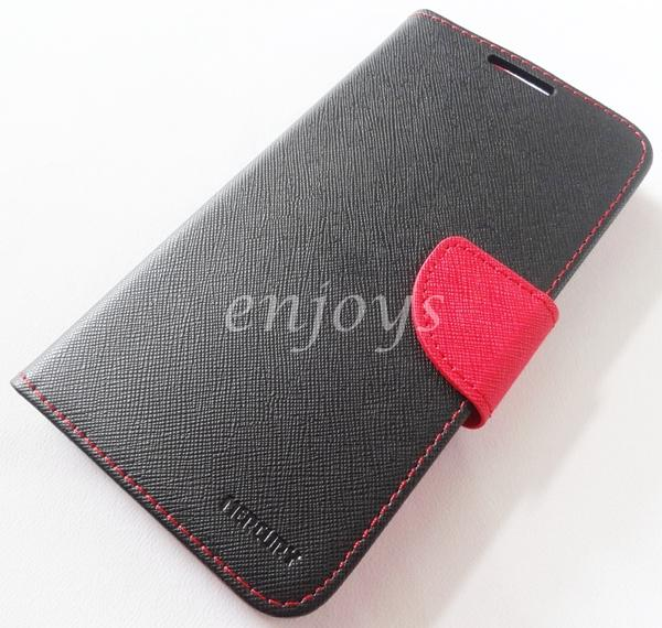 ORI MERCURY Fancy Diary Book Case Cover Pouch Huawei Honor 4X ~BLACK
