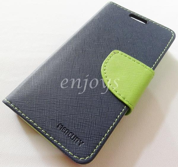 ORI MERCURY Fancy Diary Book Case Cover Pouch Lenovo A369 A369i ~Navy
