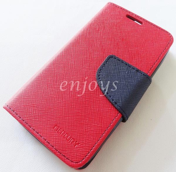 ORI MERCURY Fancy Diary Book Case Cover Pouch Lenovo A369 A369i ~RED
