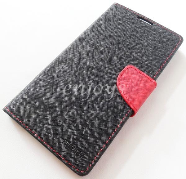 ORI MERCURY Fancy Diary Book Case Cover Pouch Lenovo A880 A889 ~BLACK