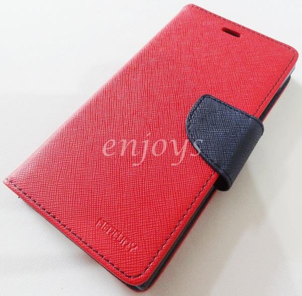 ORI MERCURY Fancy Diary Book Case Cover Pouch Xiaomi MI-3 Mi3 ~RED