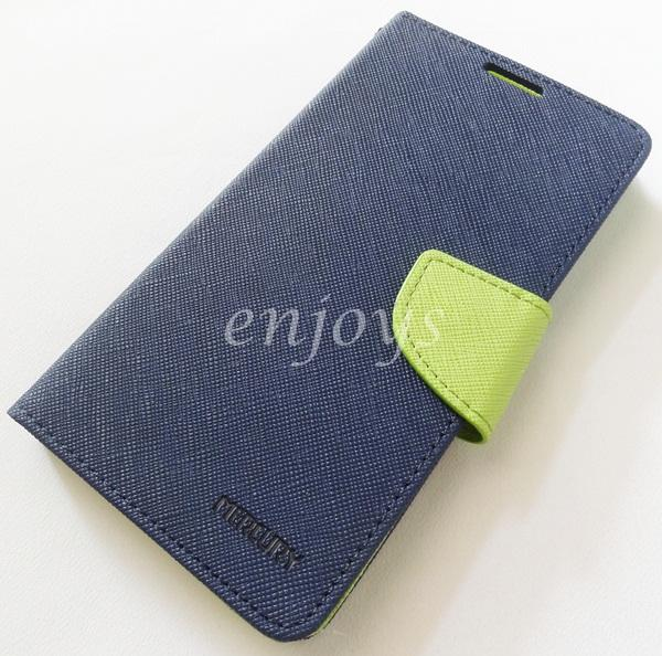 ORI MERCURY Fancy Diary Book Case Flip Cover Lenovo S90 Sisley ~NAVY