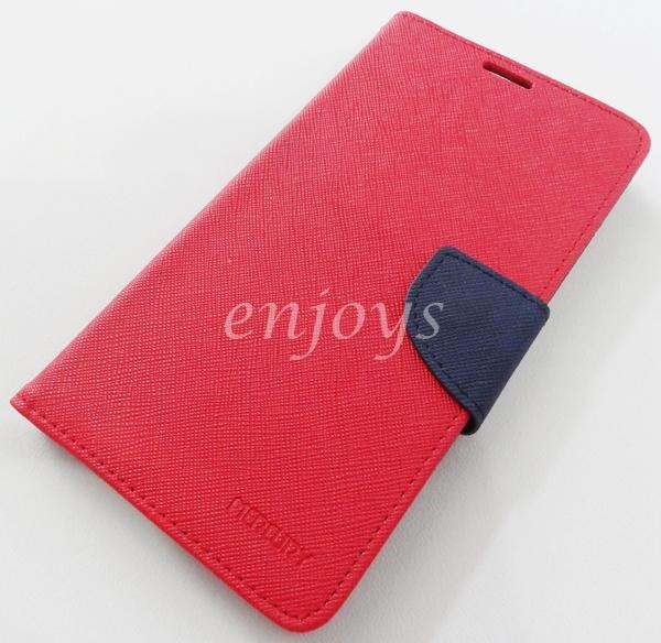ORI MERCURY Fancy Diary Book Case Flip Cover Pouch Lenovo S856 ~RED