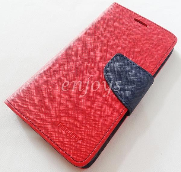 ORI MERCURY Fancy Diary Book Case Samsung Galaxy Alpha G850F ~RED