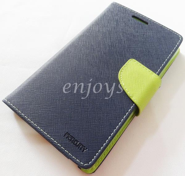 ORI MERCURY Fancy Diary Book Case Samsung Galaxy Note 1 N7000 ~NAVY