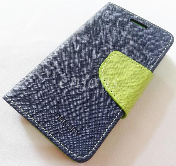 ORI MERCURY Fancy Diary Book Case Samsung Galaxy Young 2 G130H ~NAVY