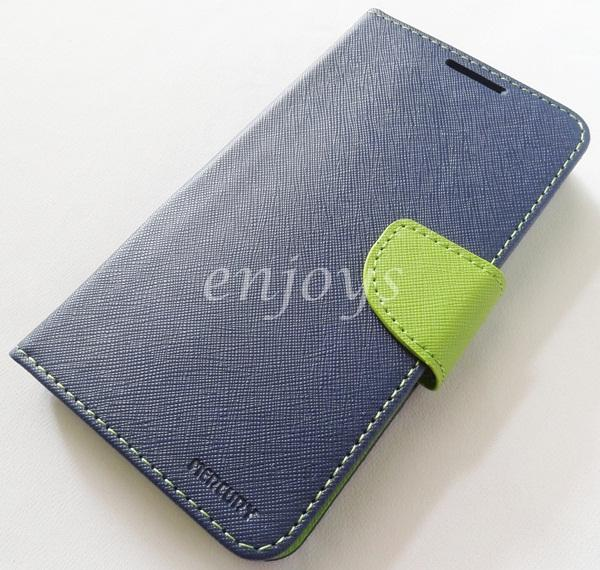 ORI MERCURY Fancy Diary Case Asus Zenfone 2 5.5' ZE550ML ZE551ML ~NAVY