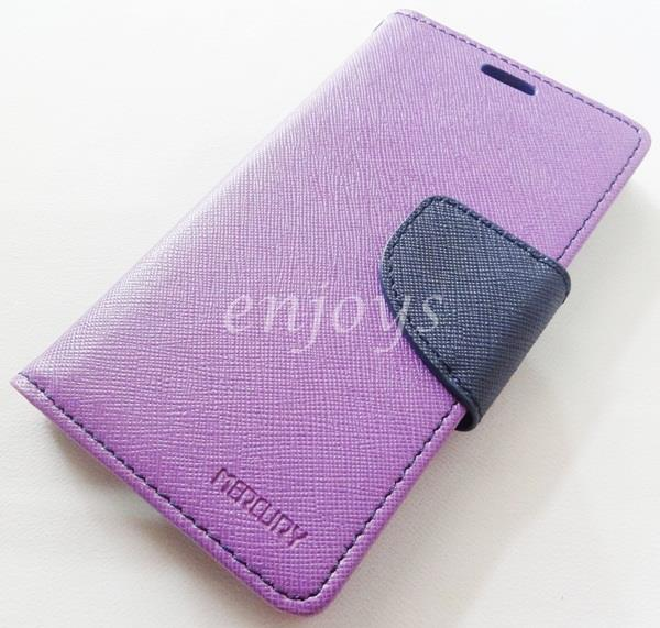 ORI MERCURY Fancy Diary Case Cover Samsung Galaxy A3 /A300F ~PURPLE