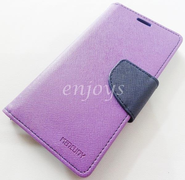ORI MERCURY Fancy Diary Case Cover Samsung Galaxy A5 / A500F ~PURPLE