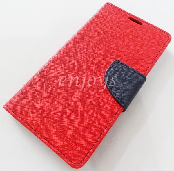 ORI MERCURY Fancy Diary Case Cover Samsung Galaxy A7 / A700FD ~RED