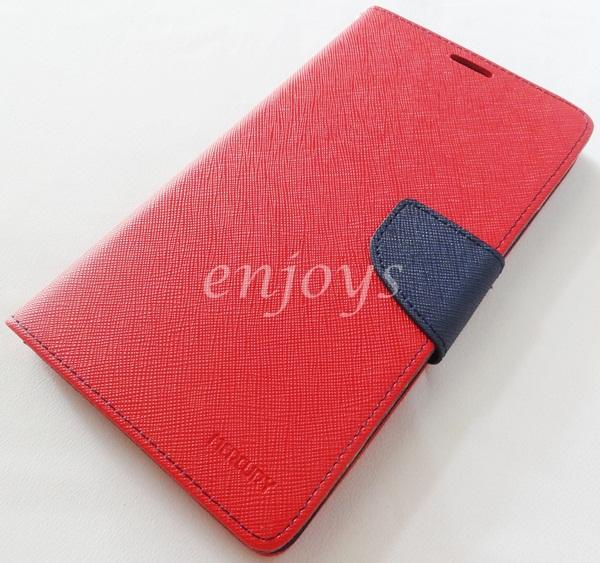 ORI MERCURY Fancy Diary Case Pouch Samsung Galaxy Mega 6.3 i9205 ~RED