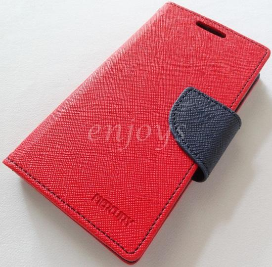 ORI MERCURY Fancy Diary Case Pouch Samsung I9100 I9105 Galaxy S2 ~RED