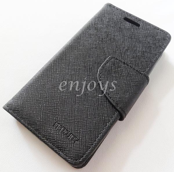 ORI MERCURY Fancy Diary Case Samsung Galaxy V G313HZ /Ace 4 ~ALL BLACK