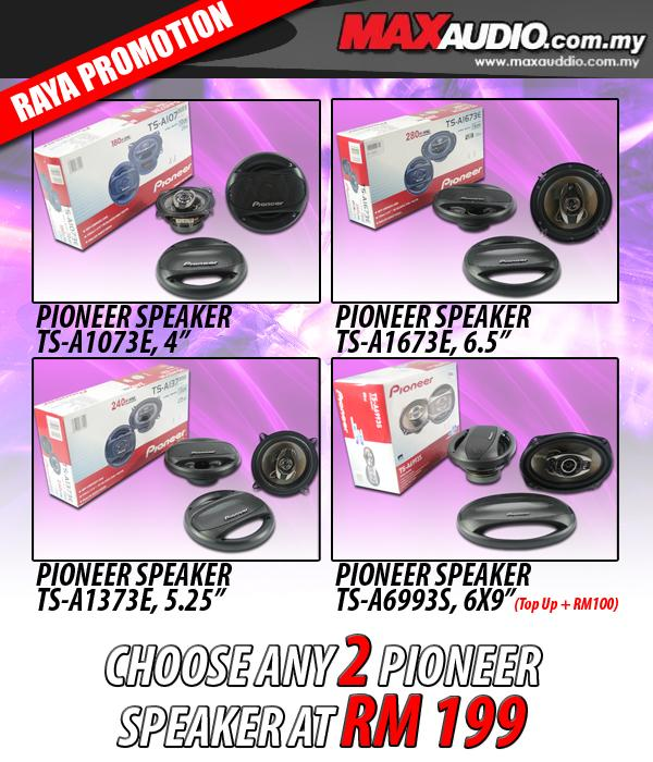 ORI PIONEER 6.5'/ 5.25'/ 4' 3-Way Coaxial Speaker Choose any 2 Sets