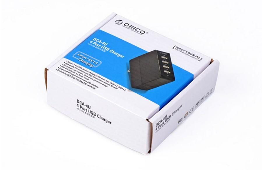 ORICO 4-PORTS 6.2A USB ADAPTER CHARGER (DCA-4U)