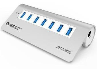 ORICO USB3.0 ALUMINUM 7 PORTS WITH ADAPTER USB HUB (M3H7)