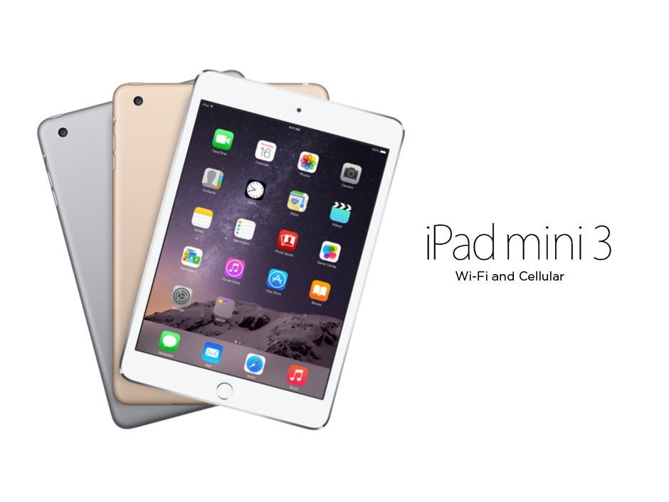 (ORIGINAL) Apple iPad Mini 3 4G LTE+WIFI 16GB/64GB/128GB
