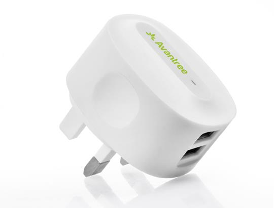 ORIGINAL AVANTREE TR602 Dual USB Wall Charger ~2.1A Fast Charging
