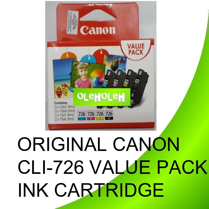 Original Canon CLI-726 Value Pack Ink Cartridge