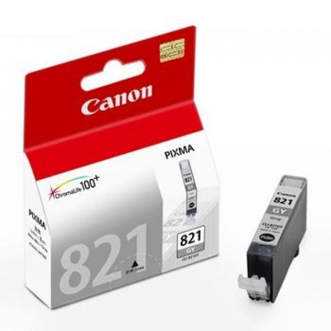 Original Canon CLI-821 GREY Ink Cartridge ( CLI821GYK CLI 821 GY )