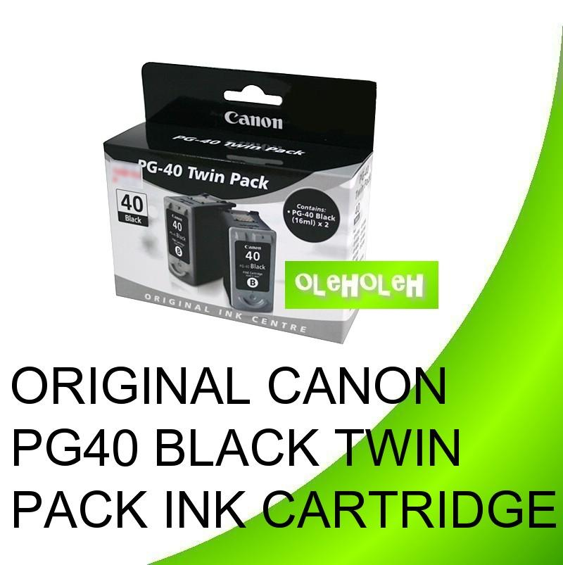 Original Canon PG-40 Black twin-pack Ink Cartridges
