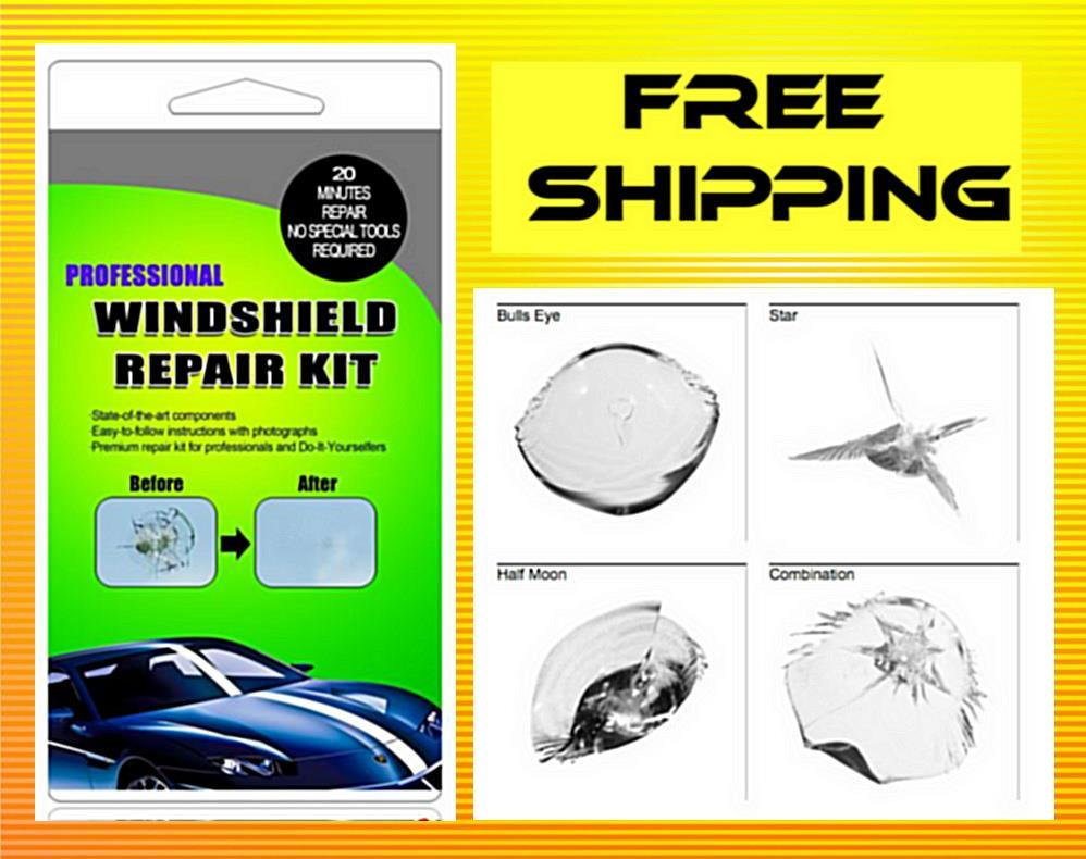 The ORIGINAL-Car Windshield/Windscreen Repair Kit+Free Gift