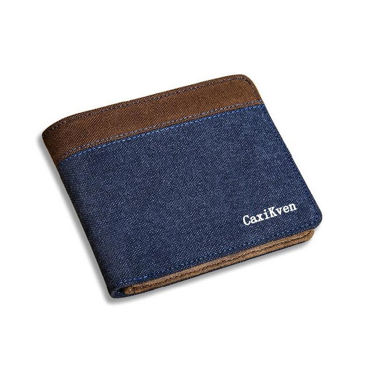 Original CaxiKven Men Wallet Super Wallet Purse for Men Canvas Wallet