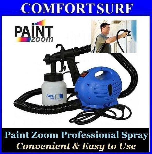 original diy paint zoom electric 3 way spray gun system free gifts. Black Bedroom Furniture Sets. Home Design Ideas