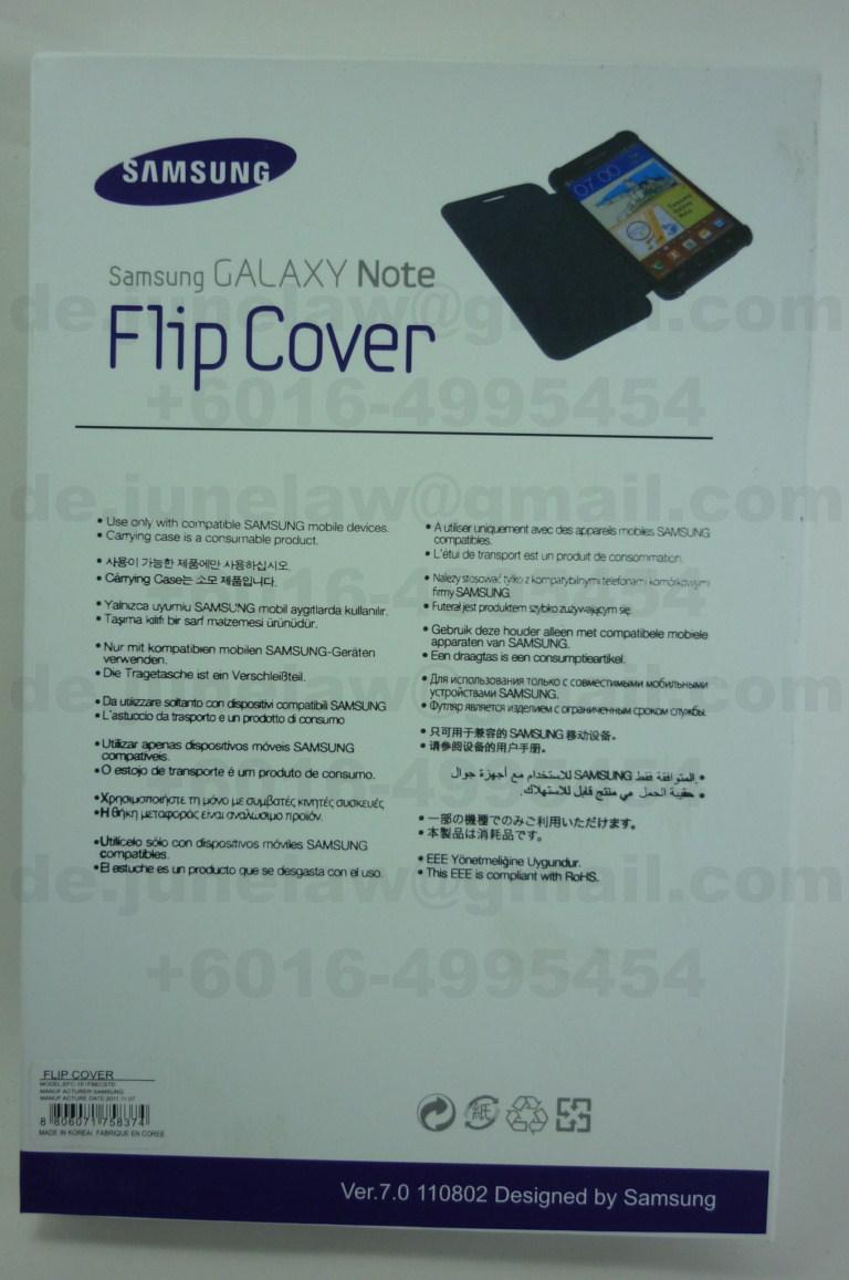 Original EM Flip Cover Case for  Samsung Galaxy Note i9220 cover