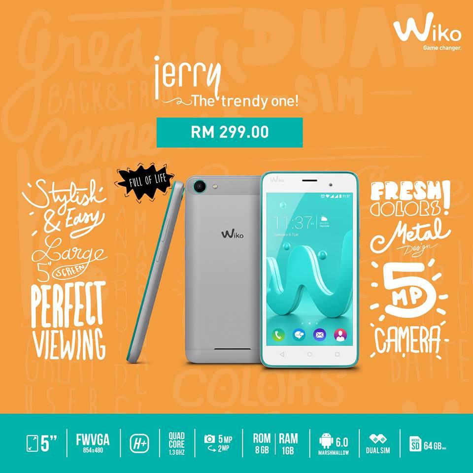 (ORIGINAL) French WIKO JERRY DUAL 5MP 8GB 5.0""
