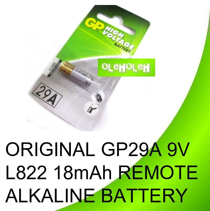 Original GP 29A GP29A 9V L822 18mAh Remote Alkaline Battery