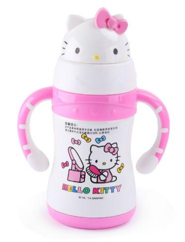 Original Hello Kitty 220ml Straw Vacumm Flask Training Bottle