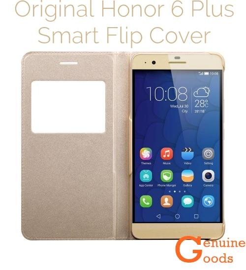 Original Huawei Honor 6 Plus Smart Flip Cover [Gold]