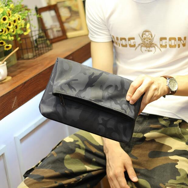 Original Korean version of the new men camouflage clutch bag