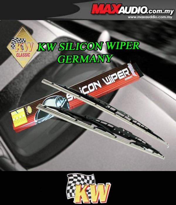 ORIGINAL KW Super High Quality Silicone Wiper 1 Pair Made in Germany