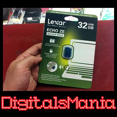 Original Lexar 32GB Echo ZE Backup Drive - Auto Backup Files Pendrive