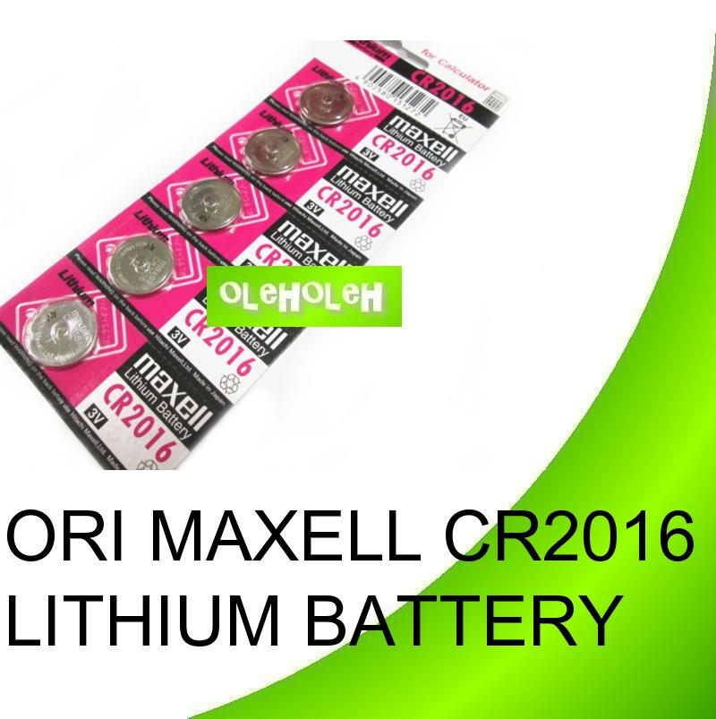 Original Maxell CR2016 Lithium Button Cell Battery (1 Pack 5pcs)