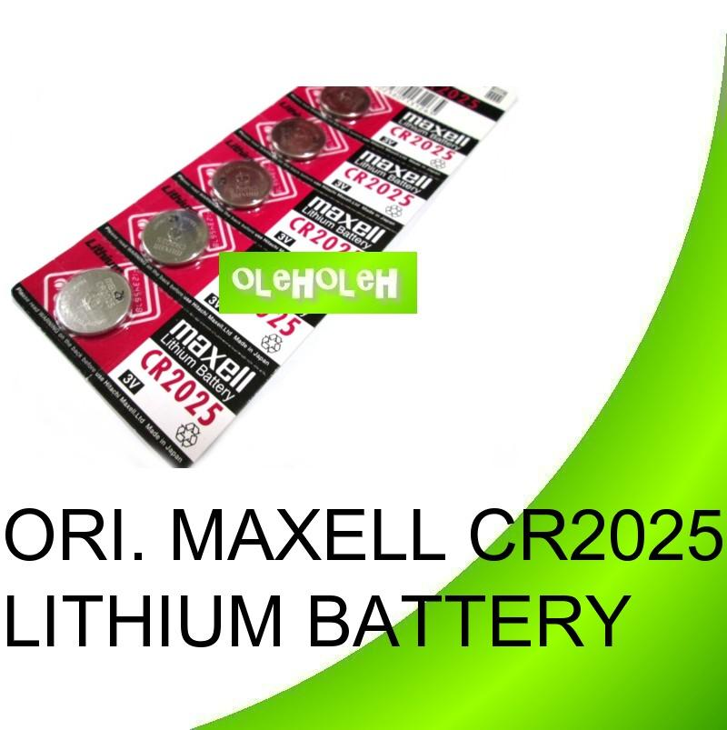 Original Maxell CR2025 Lithium Button Cell Battery (1 Pack 5pcs)